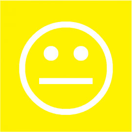 Smiley Jaune simple face magnétique