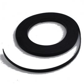 Bande magnétique souple noire 5m x 5mm