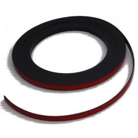 Bande magnétique souple rouge 5m x 5mm