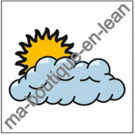 Smiley Magnets METEO -SOLEIL/NUAGE- simple face magnétique