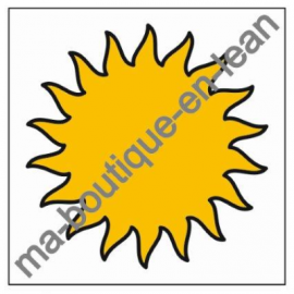 Smiley Magnets METEO -SOLEIL- simple face magnétique
