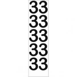 10 chiffres arrondis N° 3 - Hauteur 100mm