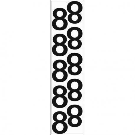 10 chiffres arrondis N° 8 - Hauteur 100mm