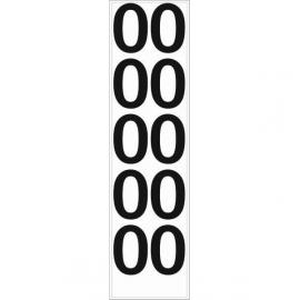 10 chiffres arrondis N° 0 - Hauteur 100mm