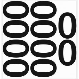 10 chiffres arrondis N° 0 - Hauteur 200mm