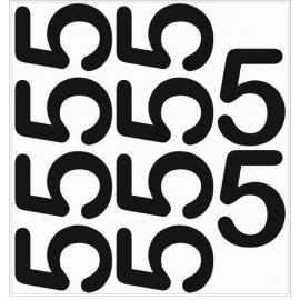 10 chiffres arrondis N° 5 - Hauteur 200mm