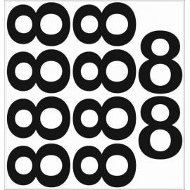 10 chiffres arrondis N° 8 - Hauteur 200mm