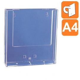 Boite plexiglass A4 - Fixation par crochet métal