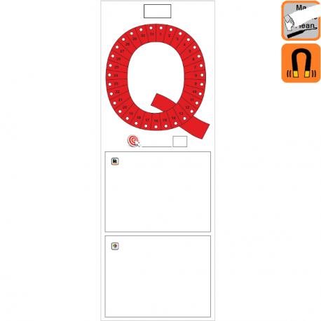 """Indicateur Visuel Qualité """"Q"""" magnétique, effaçable à sec"""