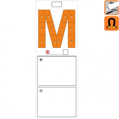 """Indicateur Visuel Motivation """"M"""" magnétique, effaçable à sec"""