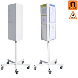 TOTEM 3 faces rotatif (tableaux) - Panneaux de communication