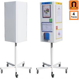 TOTEM 4 faces rotatif (Tableaux) Panneaux de communication