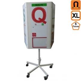 Totem 5 XL (extra large) 5 faces rotatif magnétique sur roulettes