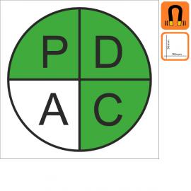 Magnets PDCA 50x50mm - P, D & C en Vert
