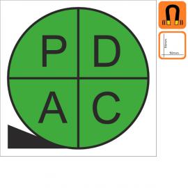 Magnets PDCA 50x50mm - P, D, C & A en Vert