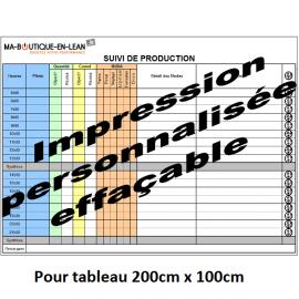 Impression personalisée SANS CONTROLE de votre fichier pour tableau 200 cm x 100 cm