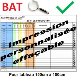 BAT + Impression personalisée de votre tableau 150 cm x 100 cm