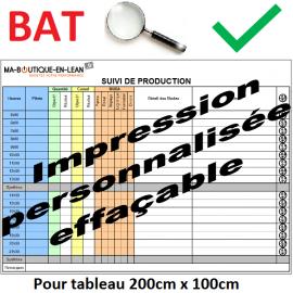 BAT + Impression personalisée de votre tableau 200 cm x 100 cm