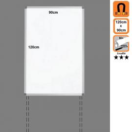 Tableau 120x90 Emaillé Magnétique en position Portrait avec platines