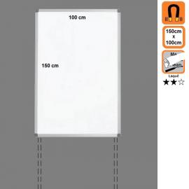 Tableau 150x100 Laqué Magnétique en position Portrait avec platines