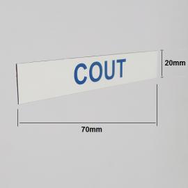Magnets imprimé 70mm x 20 mm