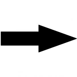 Flèche noire pour indicateur