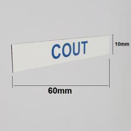 Magnets imprimé 60mm x 10 mm