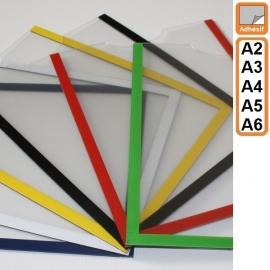 Plexidoc ADHESIF à glissière sans fond - Porte-document