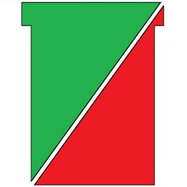 100 fiches en T indice 3 recto/verso Rouge / vert, plastifiées