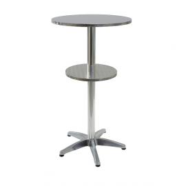 """Table type """"Mange-debout"""" avec 2 plateaux"""