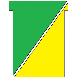 100 fiches en T indice 3 recto/verso Jaune / vert, plastifiées