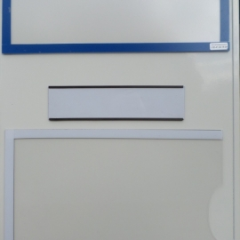 Lot de 100 Porte-étiquette magnétique hauteur 15mm x 80mm