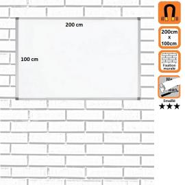 Tableau Mural 200x100 Emaillé magnétique
