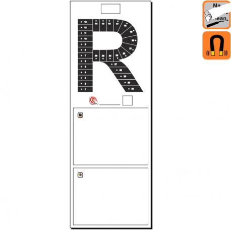 """Indicateur Visuel Rentabilité """"R"""" magnétique, effaçable à sec"""