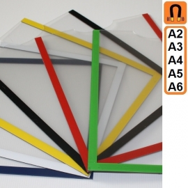 Plexidoc magnétique glissière sans fond BRILLANT EFFACABLE