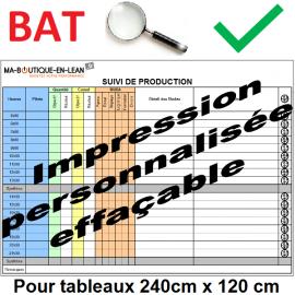 BAT + Impression personalisée de votre tableau 240 cm x 120 cm