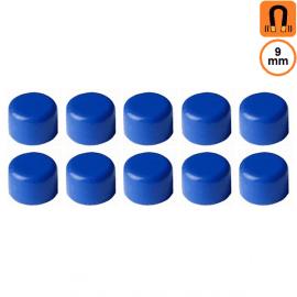 10 aimants bleus - Diamètre 9mm