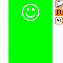 Smiley Vert A4 magnétique effaçable