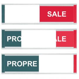 Grand Modèle Plaque de Porte - Propre / Sale - Vert / Rouge