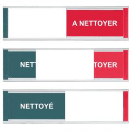 Grand Modèle Plaque de Porte - Nettoyé / A Nettoyer - Vert / Rouge