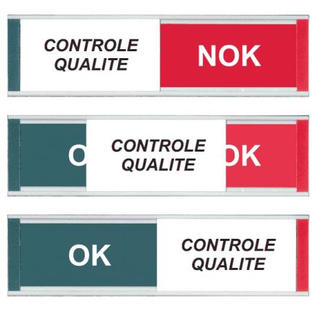 Grand Modèle Plaque de Porte - Contrôle Qualité - OK-NOK - Vert / Rouge