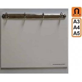 Classeur Magnétique 4 anneaux A5, A4, A3