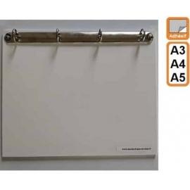Classeur Adhésif 4 anneaux - A5, A4, A3