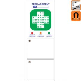 Indicateur Visuel avec Croix Sécurité magnétique, effaçable à sec