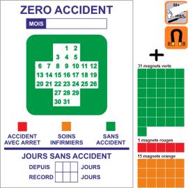 Croix sécurité magnétique, rigide et effaçable A4, A3 ou A2