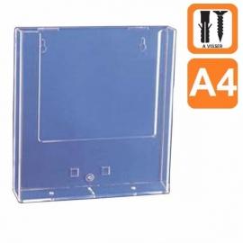 Boite plexiglass A4 avec trous pour vis