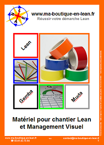 Catalogue ma-boutique-en-lean.fr, matériel pour chantier lean, 5S, hoshin, kaizen et management visuel