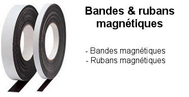 Bandes et rubans magnétiques : Se fixe sur tous supports métalliques